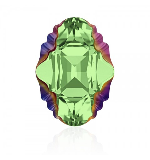14x10mm Peridot Scarabaeus Green Z F (214 SCGRZ) Oval Tribe Fancy Stone 4926 Swarovski Elements