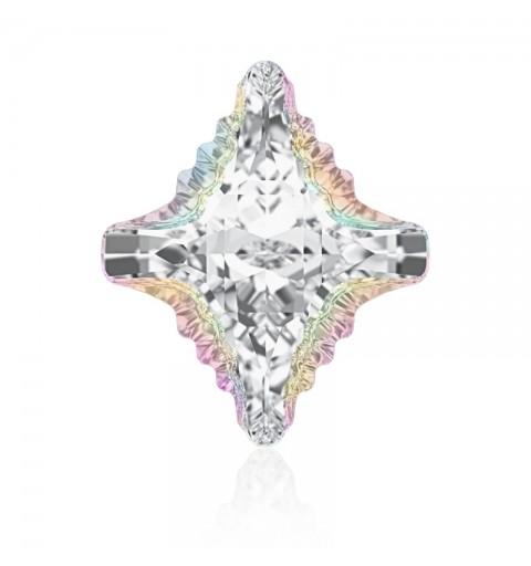19x17mm Crystal Aurore Boreale Z F (001 ABZ) Rhombus Tribe Fancy Stone 4927 Swarovski Elements