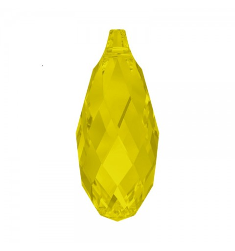 13x6.5MM Yellow Opal (231) Briolette Pendant 6010 SWAROVSKI ELEMENTS