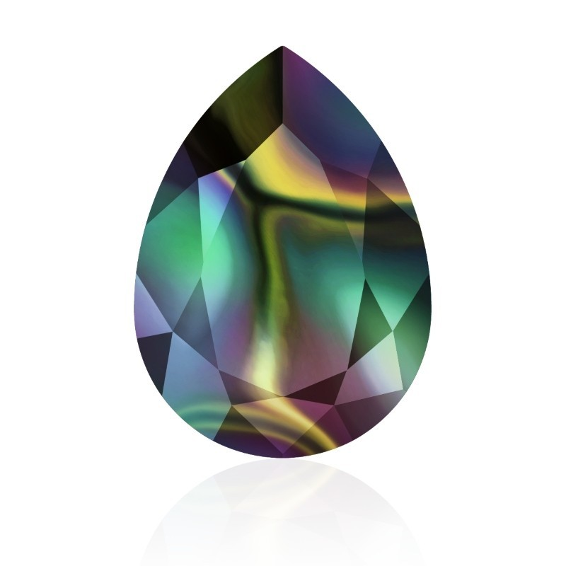 14x10mm Crystal Rainbow Dark F (001 RABDK) Pear-Shaped Fancy Stone 4320 Swarovski Elements