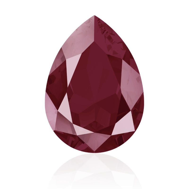 14x10mm Crystal Dark Red (001 L108S) Pirnikujuline Ehete Kristall 4320 Swarovski Elements
