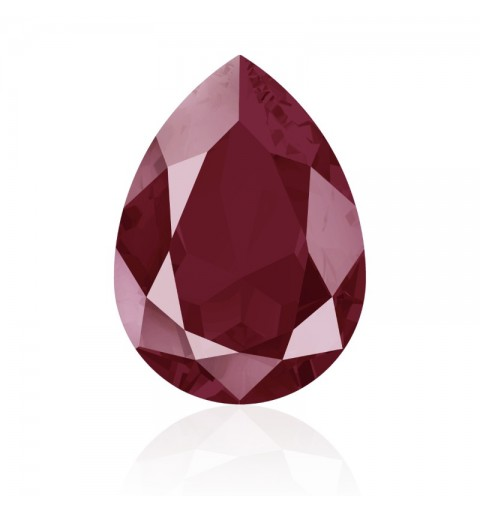 14x10mm Crystal Dark Red (001 L108S) Pear-Shaped Fancy Stone 4320 Swarovski Elements
