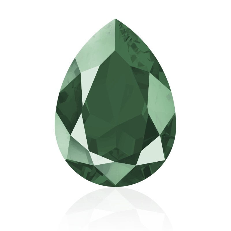 14x10mm Crystal Royal Green (001 L109S) Pear-Shaped Fancy Stone 4320 Swarovski Elements