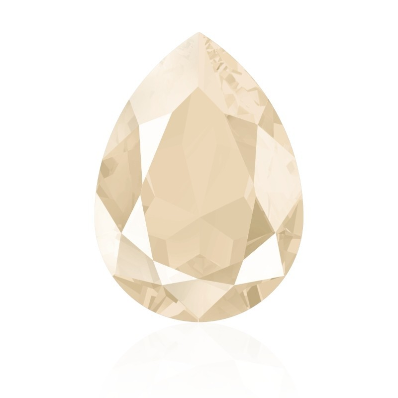 18x13mm Crystal Dark Grey (001 L111S) Pear-Shaped Fancy Stone 4320 Swarovski Elements