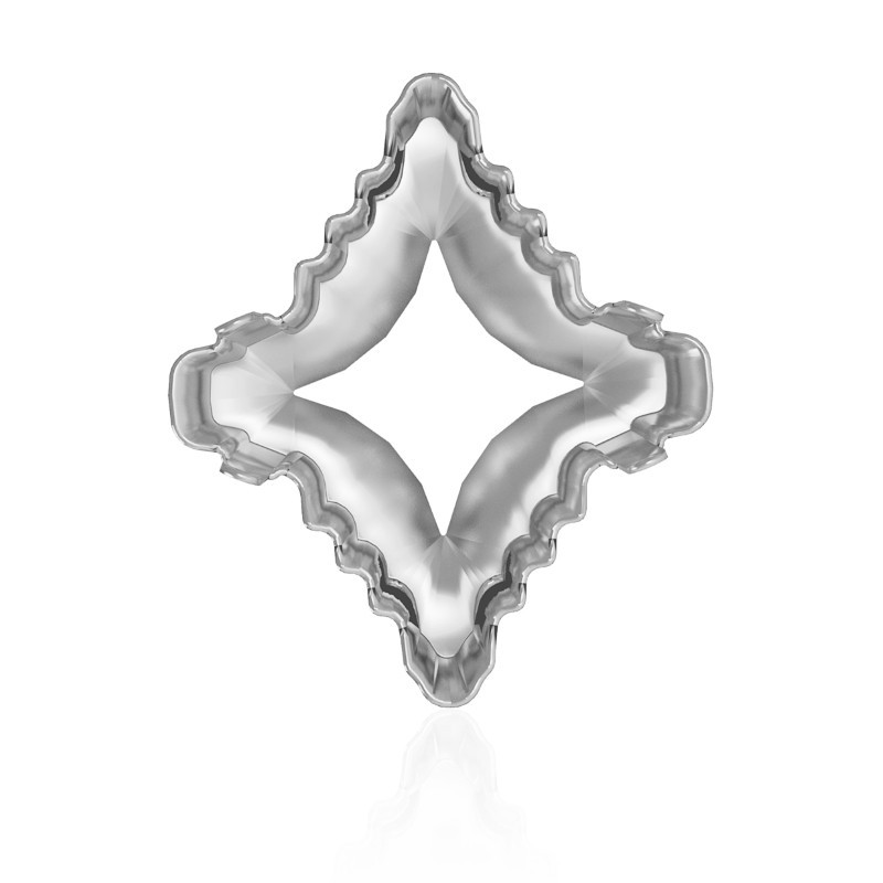 4927s 1ph2oh Rhodium Plated Rhombus Tribe Fancy Stone Setting 4 Holes