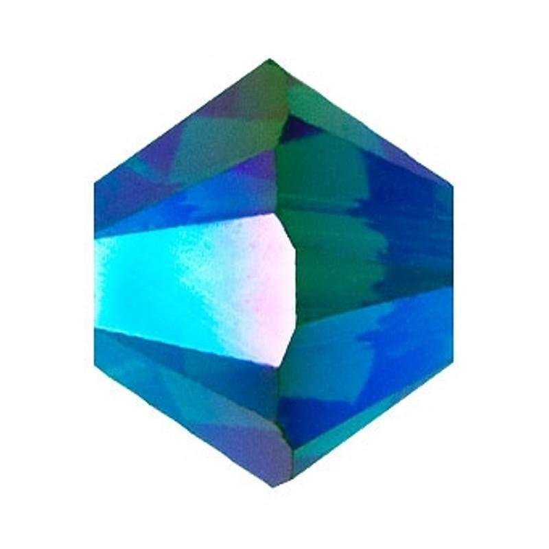 4MM Emerald AB2x (205 AB2) 5328 XILION Bi-Cone Helmed SWAROVSKI ELEMENTS
