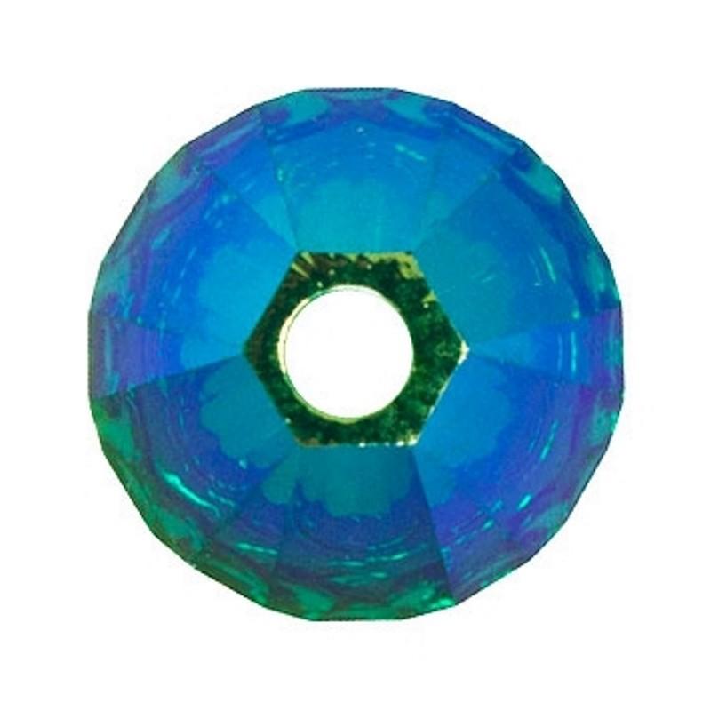4MM Emerald AB2x (205 AB2) 5328 XILION Bi-Cone Beads SWAROVSKI ELEMENTS
