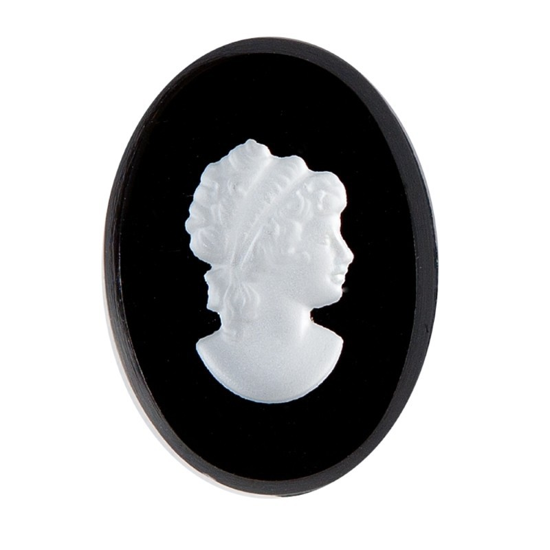 25x18mm Cameo Right Cabochons Preciosa