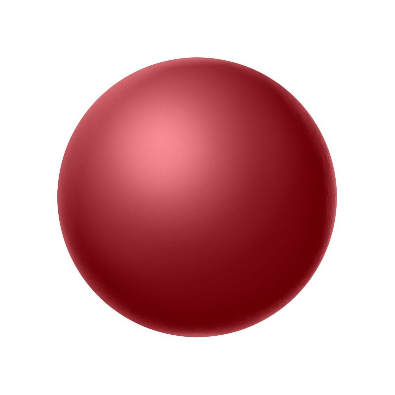 4MM Red (79500) Nacre Pearl round Preciosa
