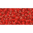 TR-08-25 Silver-Lined Light Siam Ruby TOHO SEED BEADS