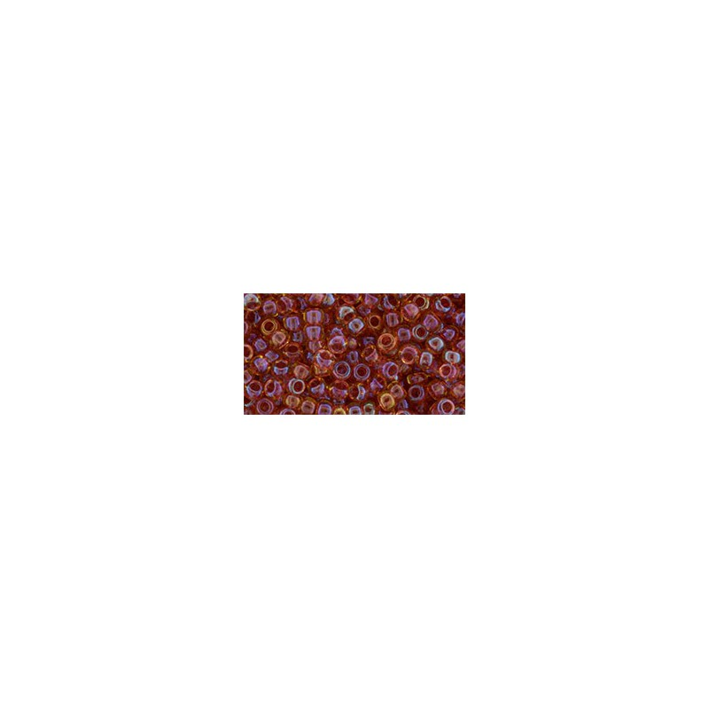 TR-08-241 Inside-Color Rainbow Light Topaz/Mauve Lined TOHO SEED BEADS