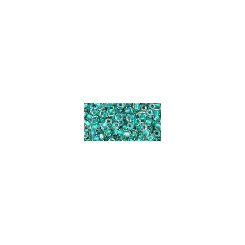TR-08-264 Inside-Color Rainbow Crystal/Teal Lined TOHO SEEMNEHELMEID