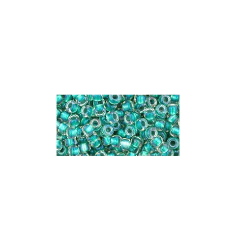 TR-08-264 Inside-Color Rainbow Crystal/Teal Lined TOHO SEED BEADS