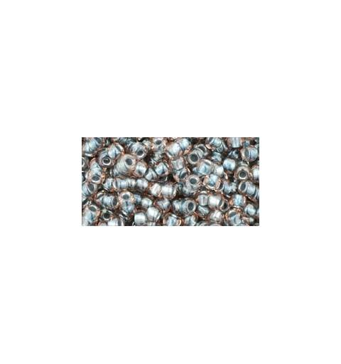 TR-08-288 Inside-Color Crystal/Metallic Blue Lined TOHO SEED BEADS