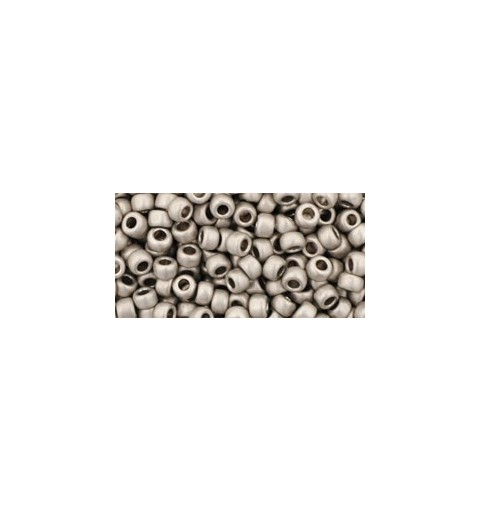 TR-08-566 Metallic Frosted Antique Silver TOHO SEED BEADS
