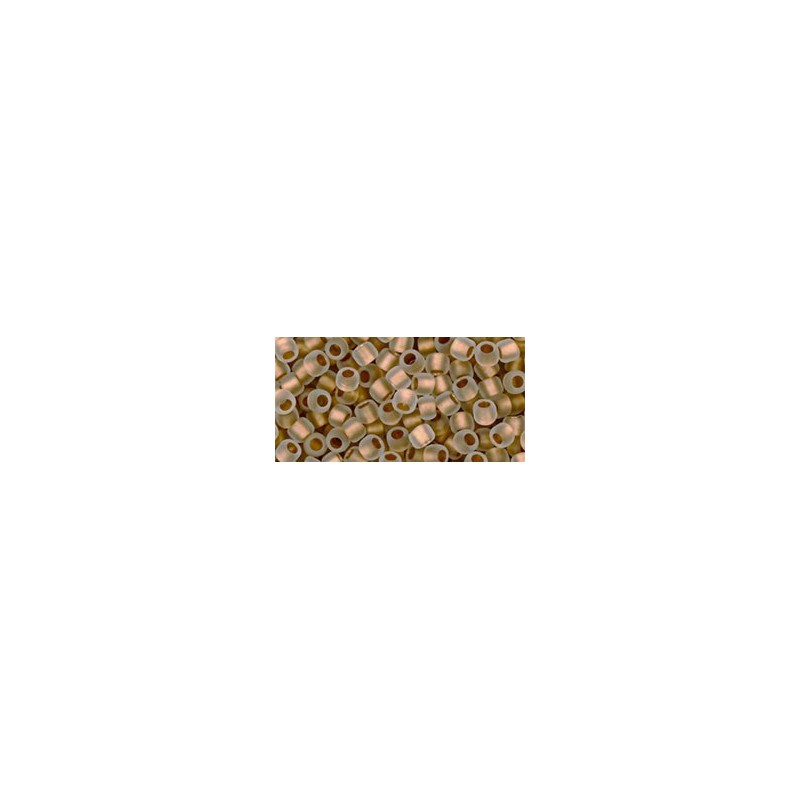 TR-08-989F Gold-Lined Frosted Crystal TOHO SEED BEADS