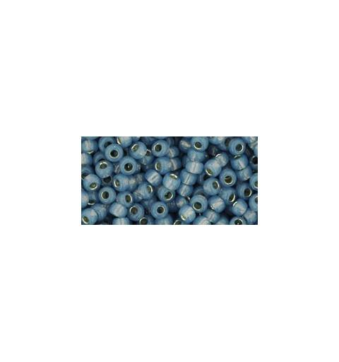 TR-08-2102 Silver-Lined Milky Montana Blue TOHO SEED BEADS