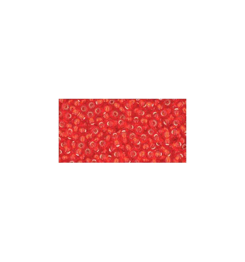 TR-11-25 Silver-Lined Light Siam Ruby TOHO Seed Beads