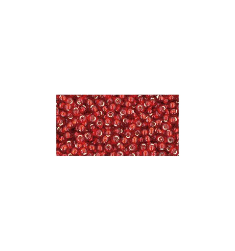 TR-11-25C Silver-Lined Ruby TOHO Seed Beads