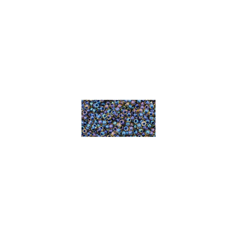 TR-11-288 Inside-Color Crystal/Metallic Blue Lined TOHO Seed Beads