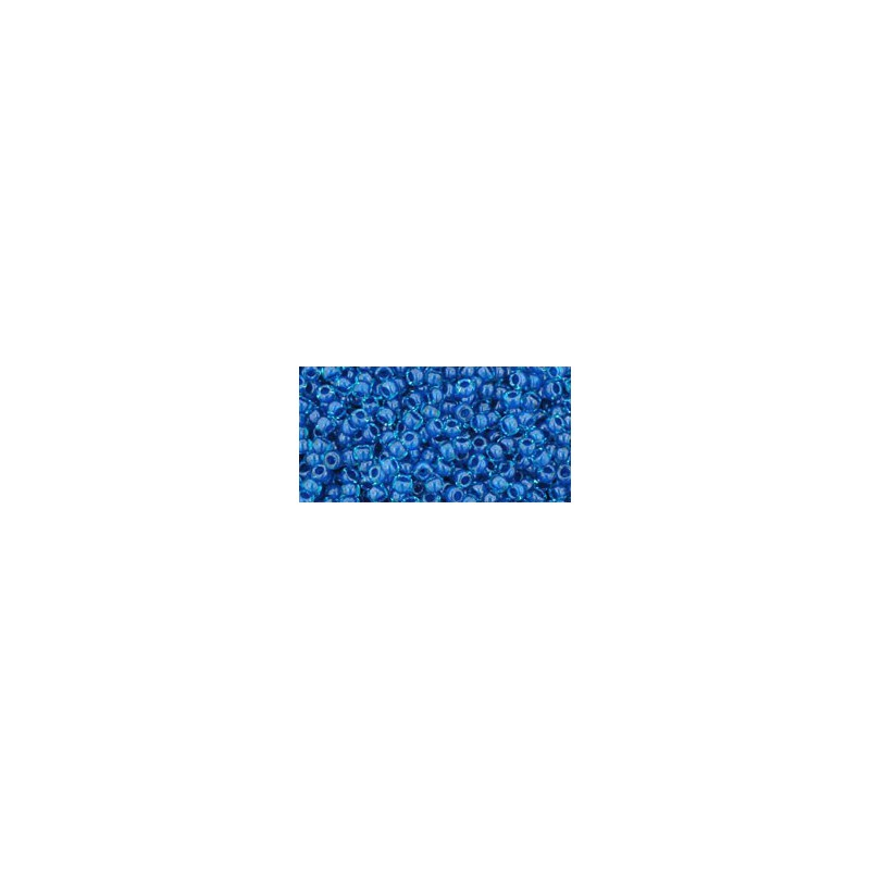 TR-11-932 Inside-Color Aqua/Capri Lined TOHO Seed Beads