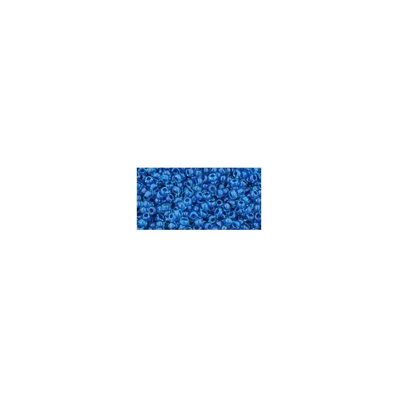 TR-11-288 Inside-Color Crystal/Metallic Blue Lined TOHO Seed Beads