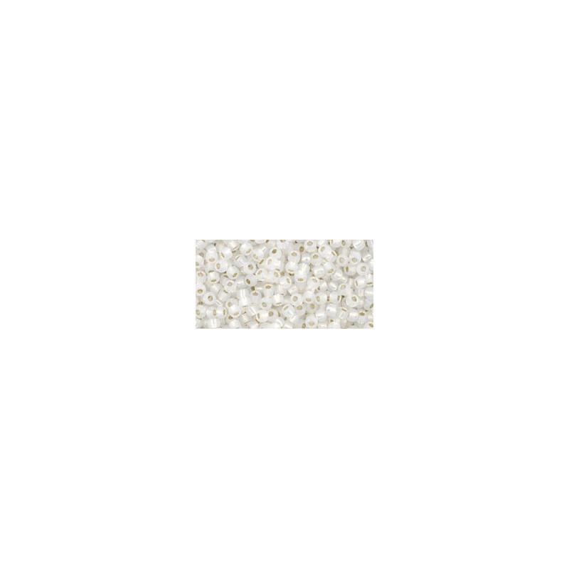 TR-11-27 Silver-Lined Peridot TOHO Seed Beads