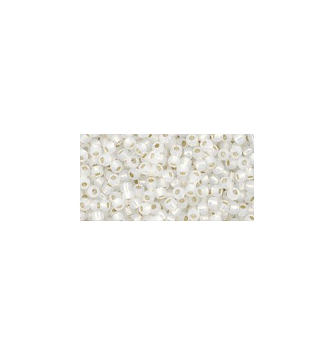 TR-11-2100 Silver-Lined Milky White TOHO Seed Beads