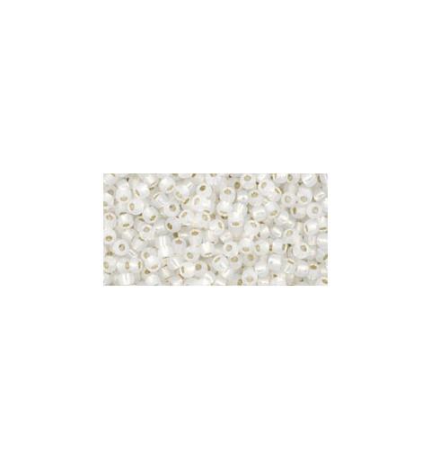 TR-11-2100 Silver-Lined Milky White TOHO Seemnehelmed