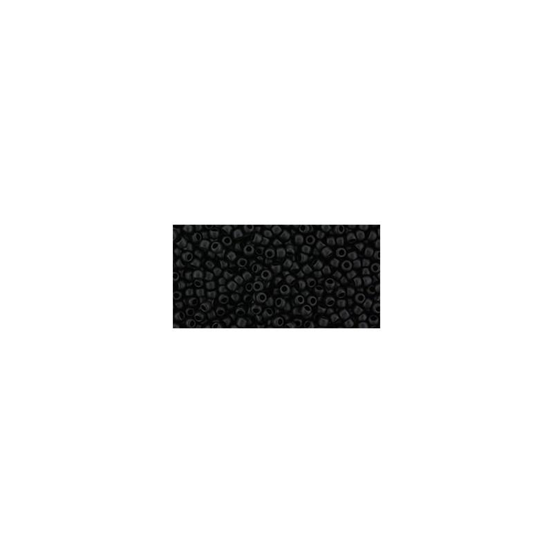 TR-11-2612F Semi Glazed - Jet TOHO Seed Beads