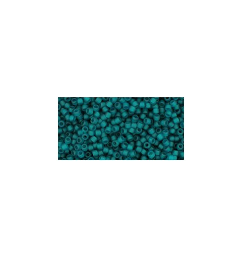 TR-15-7BDF Transparent-Frosted Teal TOHO Seed Beads