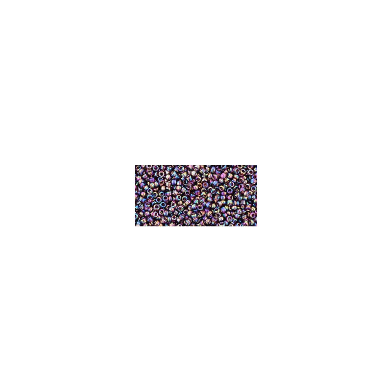 TR-15-166C Transparent-Rainbow Amethyst TOHO Seemnehelmed