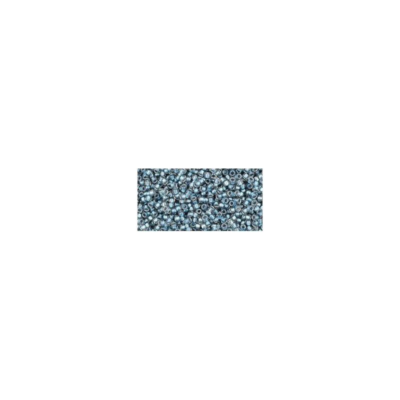 TR-15-288 Inside-Color Crystal/Metallic Blue Lined TOHO Seemnehelmed