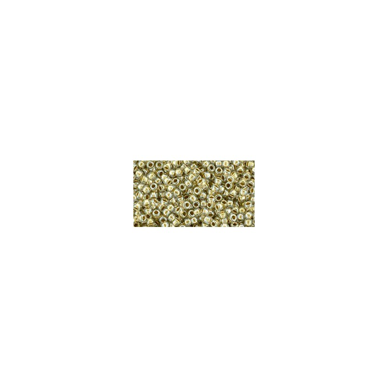 TR-15-989 Gold-Lined Crystal TOHO Seed Beads