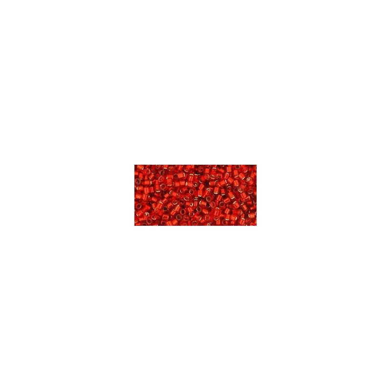 TT-01-25B Silver-Lined Siam Ruby TOHO Treasures Seed Beads