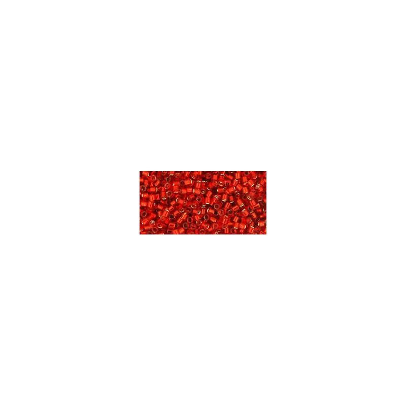 TT-01-25B Silver-Lined Siam Ruby TOHO Treasures Seed Beads