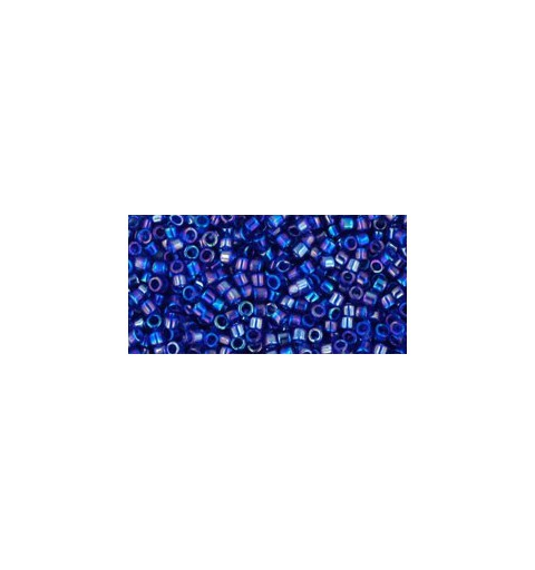 TT-01-87 Transparent-Rainbow Cobalt TOHO Treasures Seed Beads