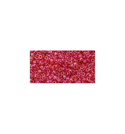 TT-01-241 Inside-Color Rainbow Light Topaz/Mauve Lined TOHO Treasures Seemnehelmed
