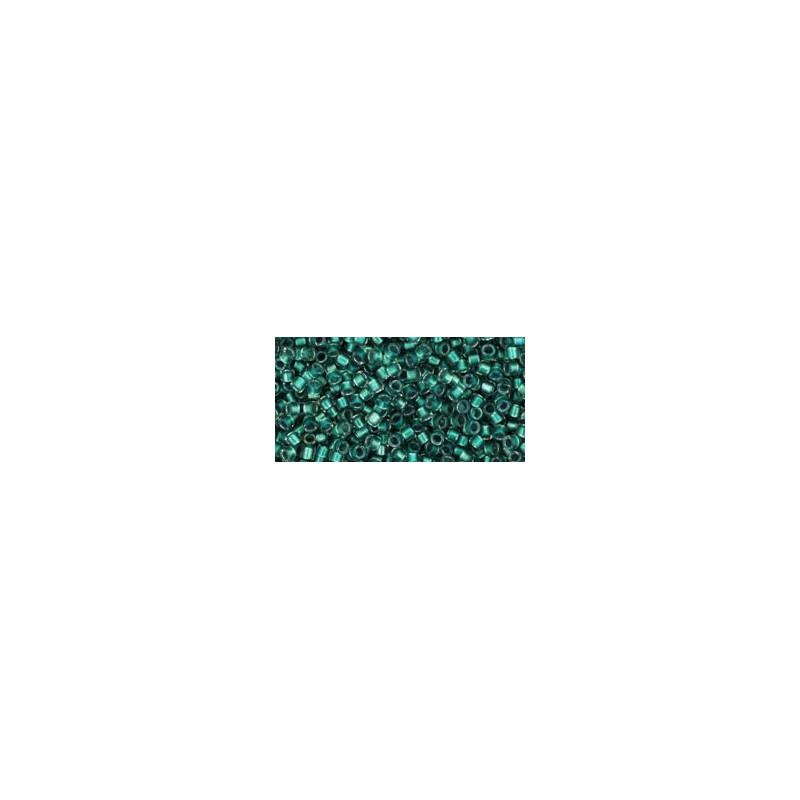 TT-01-264 Inside-Color Rainbow Crystal/Teal Lined TOHO Treasures Seed Beads