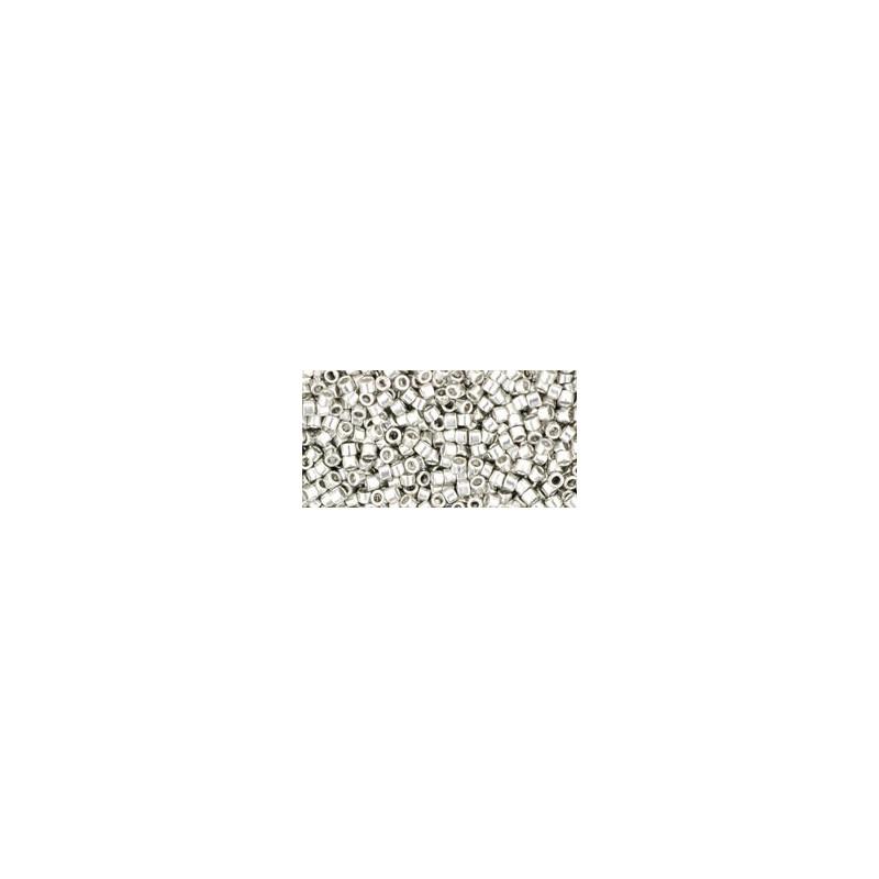 TT-01-714 Metallic Silver TOHO Treasures Seed Beads