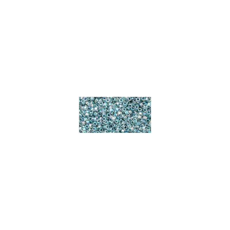 TT-01-773 Inside-Color Rainbow Crystal/Montana Blue Lined TOHO Treasures Seed Beads