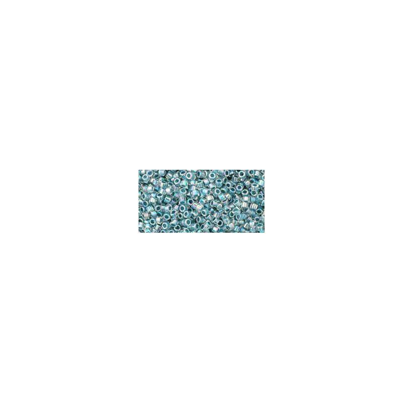 TT-01-773 Inside-Color Rainbow Crystal/Montana Blue Lined TOHO Treasures Seemnehelmed