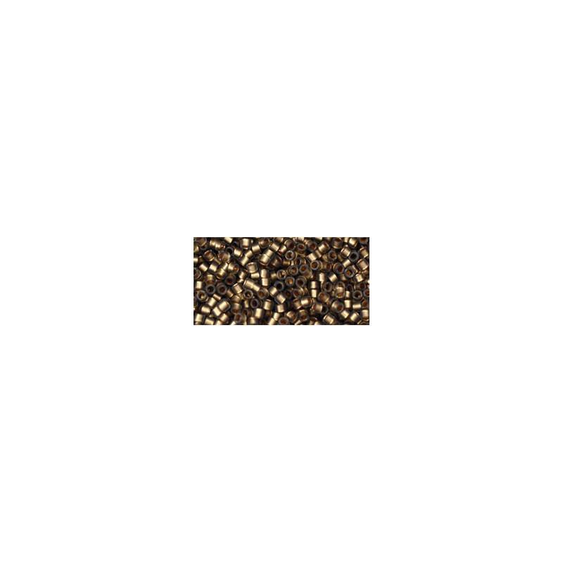 TT-01-999F Gold-Lined Frosted Black Diamond TOHO Treasures Seemnehelmed