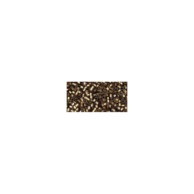 TT-01-999F Gold-Lined Frosted Black Diamond TOHO Treasures Seed Beads
