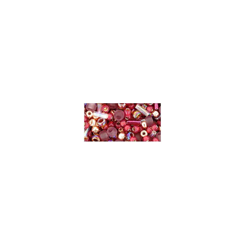 TX-01-3217 Kokoro Mauve/Gold Miks TOHO Seemnehelmed