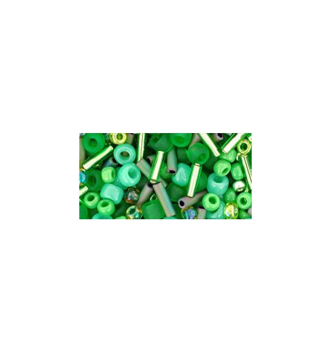 TX-01-3221 Wasabi Green Mix TOHO Seed Beads