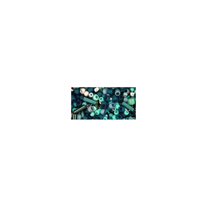 TX-01-3222 Tatsu Teal Mix TOHO Seed Beads