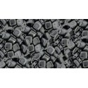 6mm Hematite CzechMates Tile beads