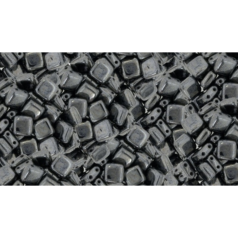 6mm Hematite CzechMates plaat (Tile) helmed