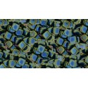 6mm Iris - Green CzechMates Tile beads